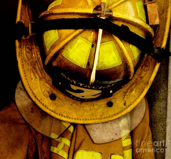 Fire Department Poster featuring the photograph Waiting For Fire - Battalion 2 by Steven Digman