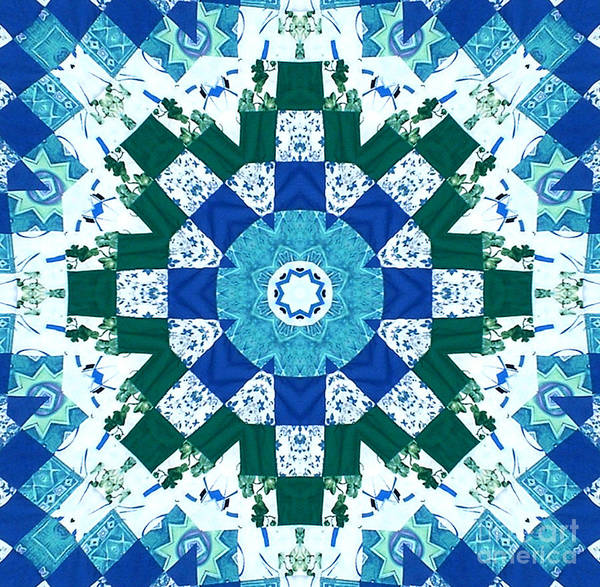 Quilts Poster featuring the tapestry - textile Watercolor Quilt by Barbara Griffin