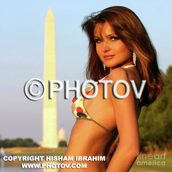 Woman Poster featuring the photograph Welcome To Washington by Hisham Ibrahim