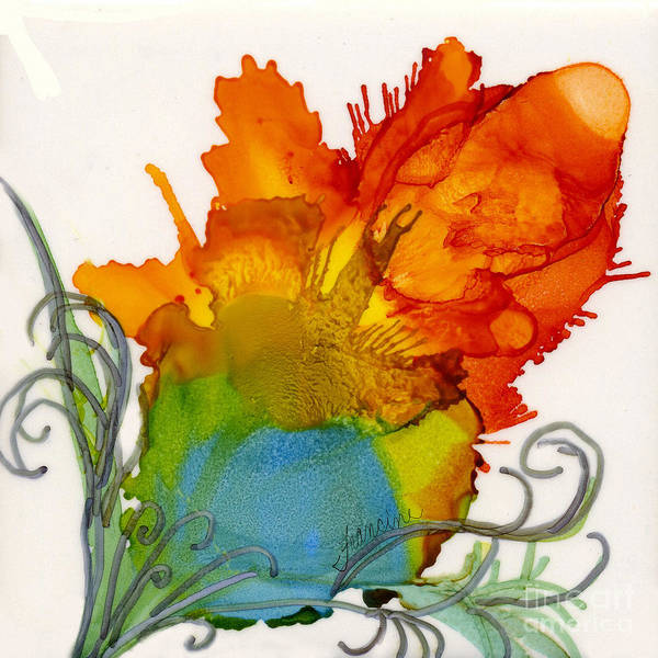 Alcohol Ink Poster featuring the painting Wild Child by Francine Dufour Jones
