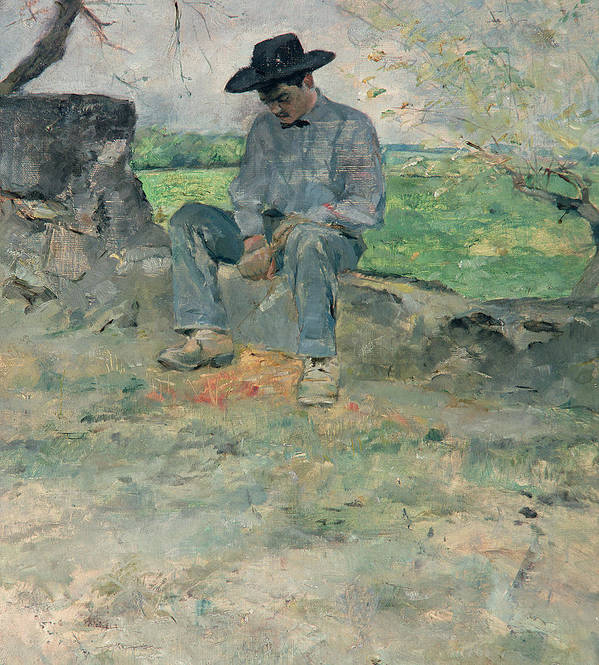 Man Poster featuring the painting Young Routy At Celeyran by Henri de Toulouse-Lautrec