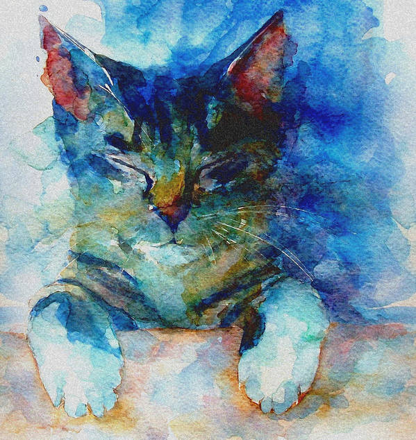 Cat Poster featuring the painting You've Got A Friend by Paul Lovering