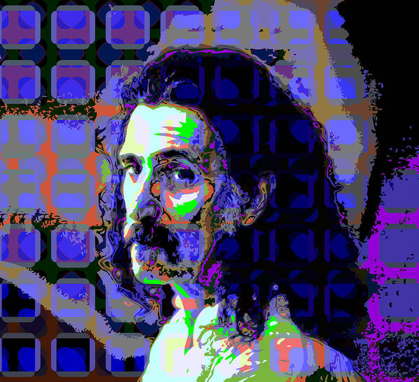 Colorful Poster featuring the digital art Zappa Blue by Scott Davis