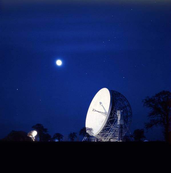 Lovell Radio Telescope Poster featuring the photograph Jodrell Bank Observatory by Richard Kail