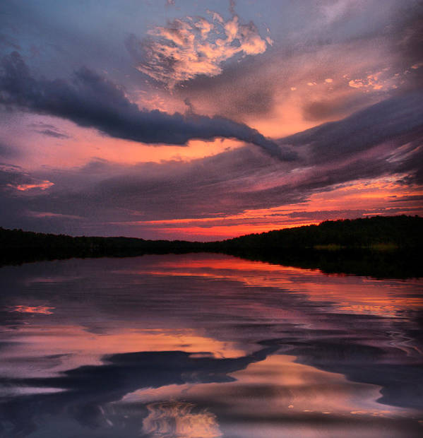 Sunsets Poster featuring the photograph Lake Sunset by Rick Friedle