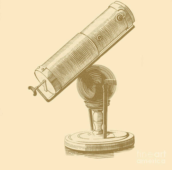 17th Century Poster featuring the photograph Newtons Little Reflector by Science Source