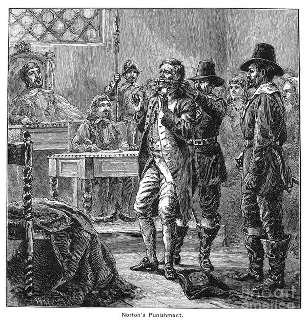 Colonist Poster featuring the photograph Puritan Punishment by Granger