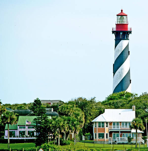 Scenery Poster featuring the photograph St. Augustine Lighthouse by Kenneth Albin