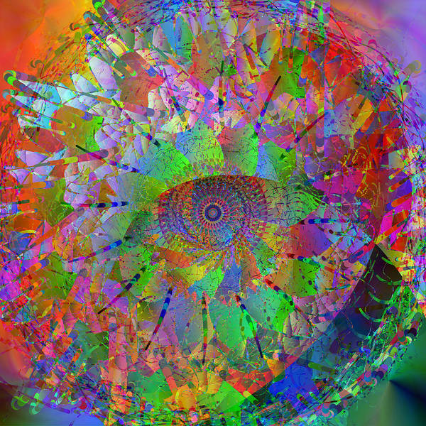 Mandala Poster featuring the digital art 2012-10-26-10c by Peter Shor