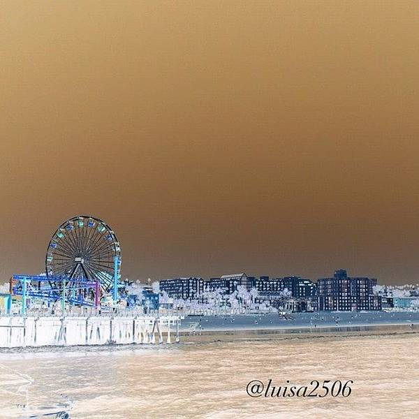 Beautiful Poster featuring the photograph Santa Monica by Luisa Azzolini