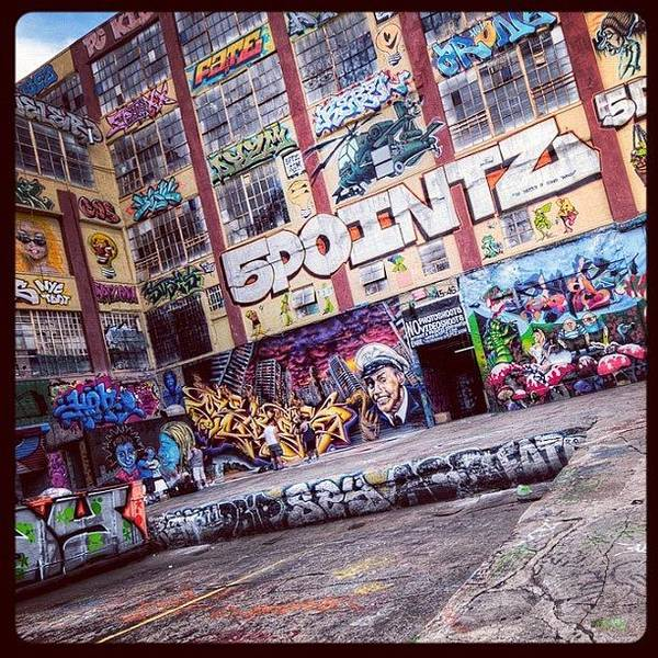 Summer Poster featuring the photograph 5 Pointz by Randy Lemoine