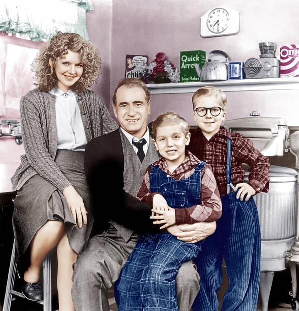 1980s Movies Poster featuring the photograph A Christmas Story, From Left Melinda by Everett