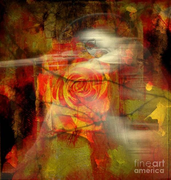 Fania Simon Poster featuring the mixed media A Valentine's Day Betrayal by Fania Simon