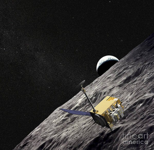 Artificial Satellites Poster featuring the digital art Artist Concept Of The Lunar by Stocktrek Images