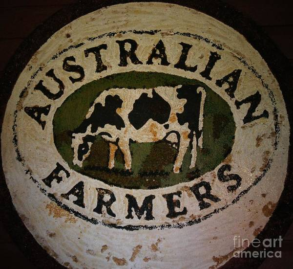 Sign Poster featuring the photograph Australian Farmers by Therese Alcorn