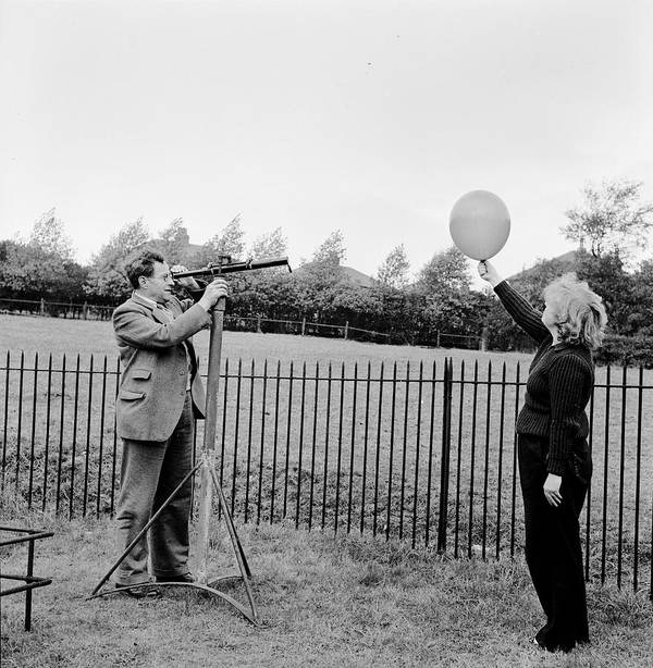35-39 Years Poster featuring the photograph Balloon Viewing by Harry Kerr