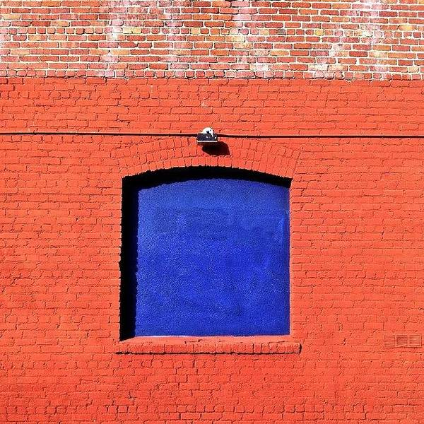 Brickoftheday Poster featuring the photograph Blue Window by Julie Gebhardt