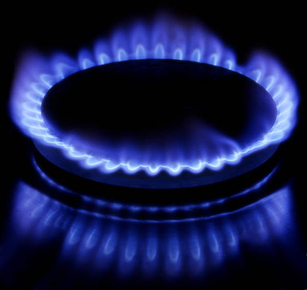 Blue Poster featuring the photograph Burning Gas by Fabrizio Troiani