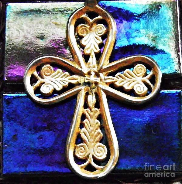 Byzantine Tree Of Life Cross 3 Poster featuring the photograph Byzantine Tree Of Life Cross 3 by Sarah Loft