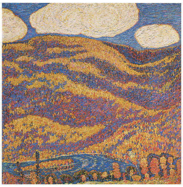 Marscden Hartley Poster featuring the painting Carnival Of Autumn by Marsden Hartley