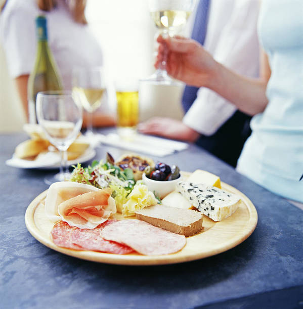 Cheese Poster featuring the photograph Cheese And Meats by David Munns