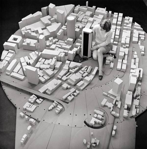 Human Poster featuring the photograph City Model Of Sydney, 1969 by National Physical Laboratory (c) Crown Copyright