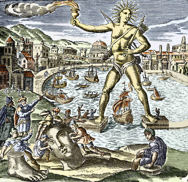 Apollo Poster featuring the photograph Colossus Of Rhodes Statue by Sheila Terry
