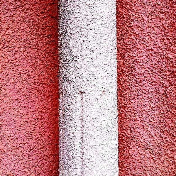 Pink Poster featuring the photograph Column detail by Julie Gebhardt