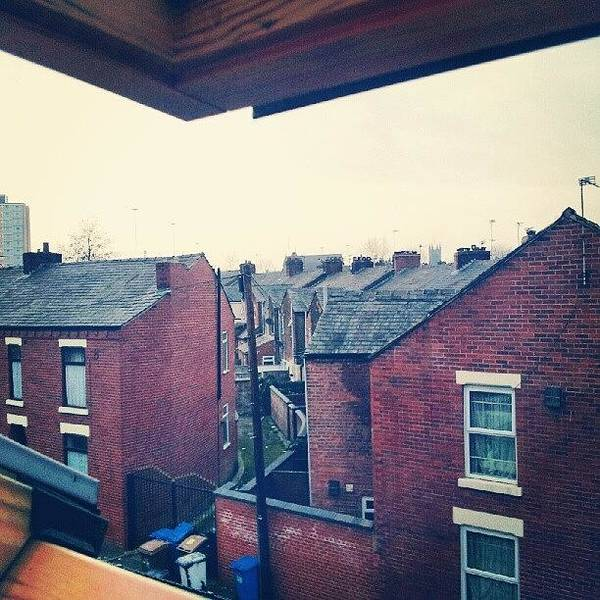 Salford Poster featuring the photograph Different Angle! #buildings #houses by Abdelrahman Alawwad