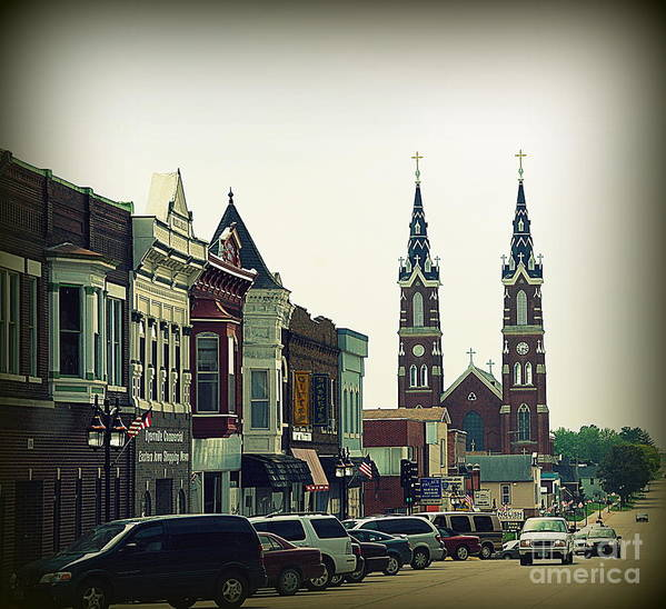 Dyersville Poster featuring the photograph Dyersville In Iowa by Susanne Van Hulst