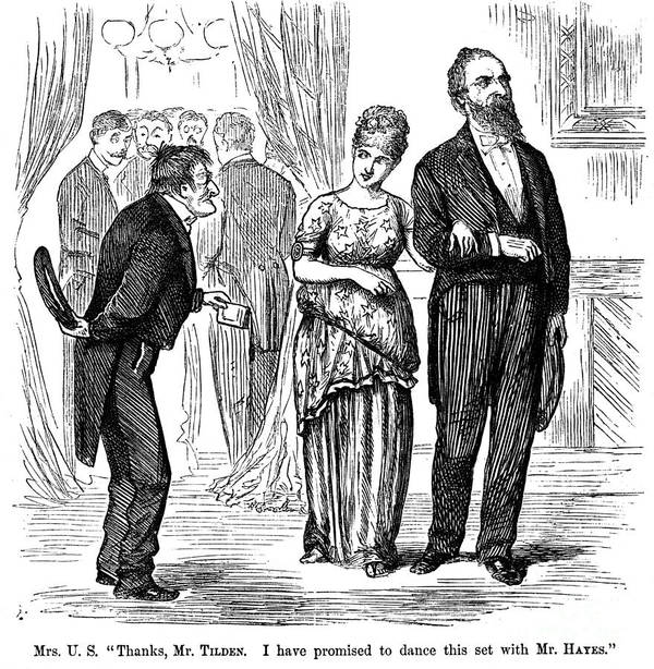 1876 Poster featuring the photograph Election Cartoon, 1877 by Granger