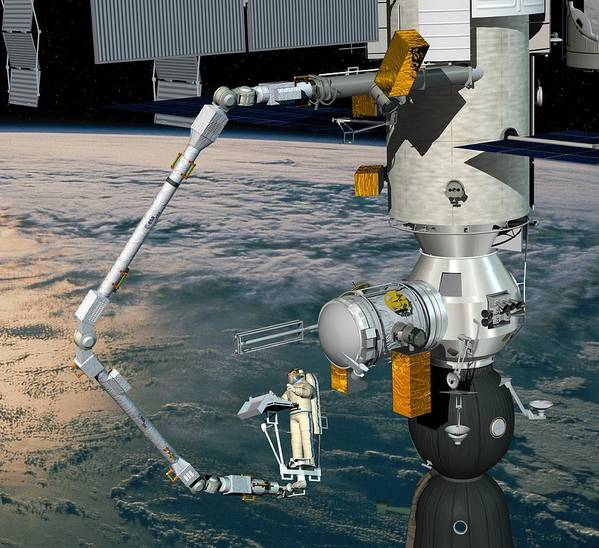 Era Poster featuring the photograph Era Robotic Arm Of The Iss, Artwork by David Ducros