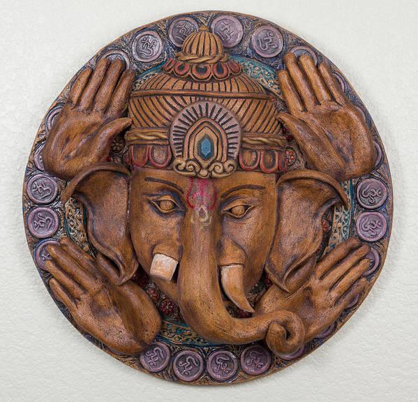 Jamie Gunn Poster featuring the ceramic art Ganesha by Jaimie Gunn