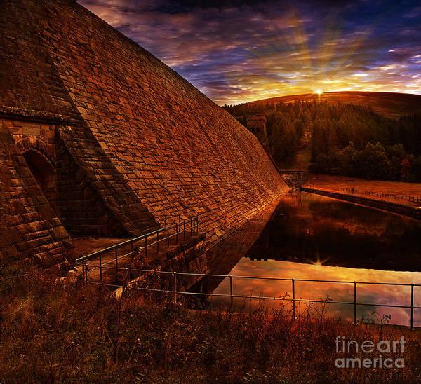Derwent Dam Poster featuring the photograph Good Morning Derwent by Nigel Hatton