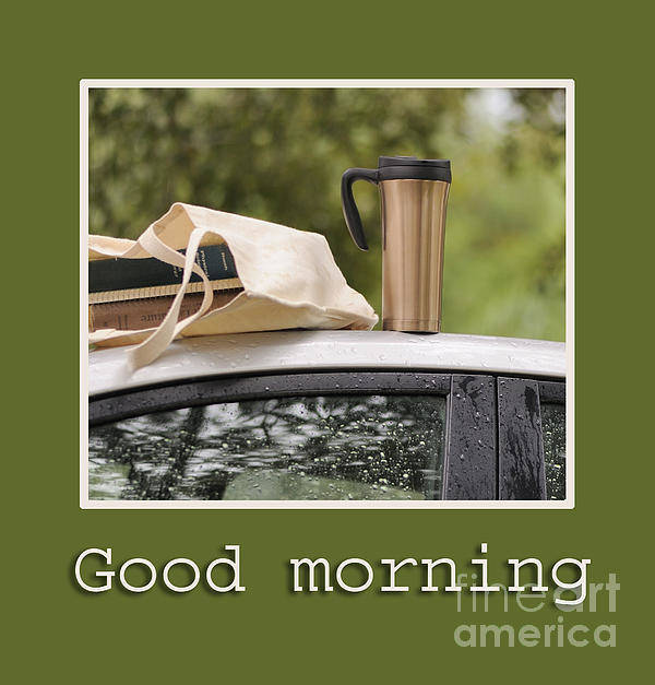 Coffee Poster featuring the photograph Good Morning by Nancy Greenland