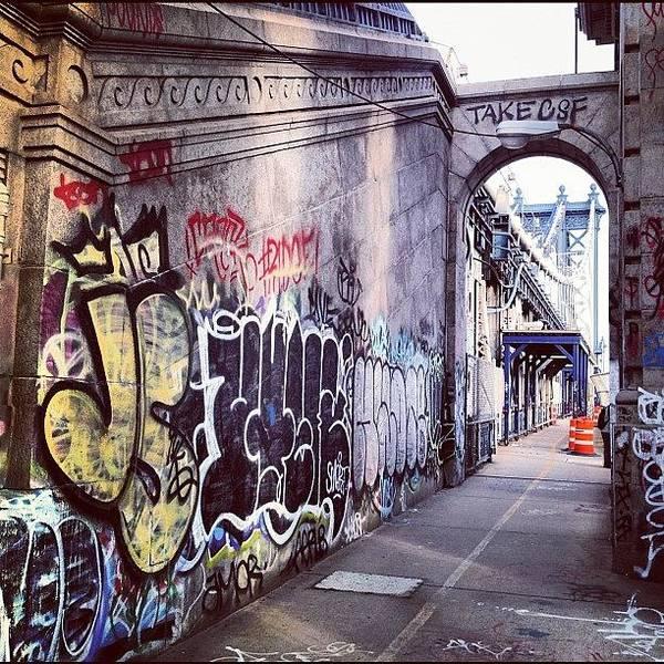 Summer Poster featuring the photograph Graffiti Bridge by Randy Lemoine