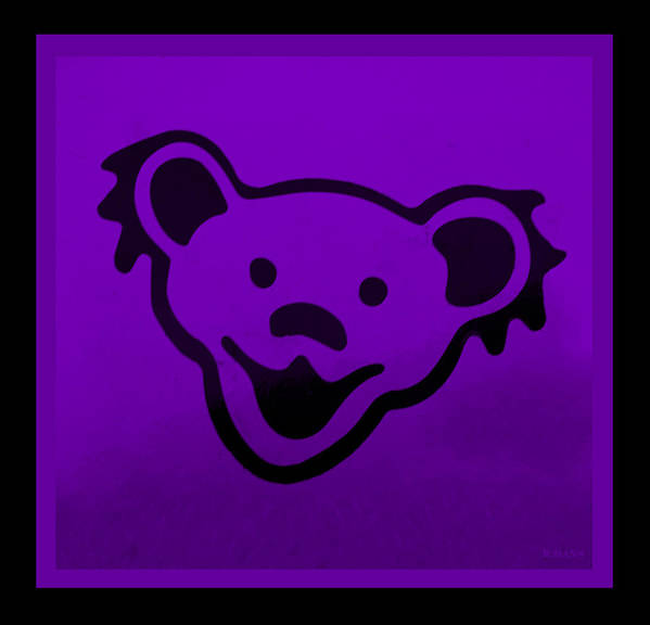 Greatful Dead Poster featuring the photograph Greatful Dead Dancing Bear In Purple by Rob Hans