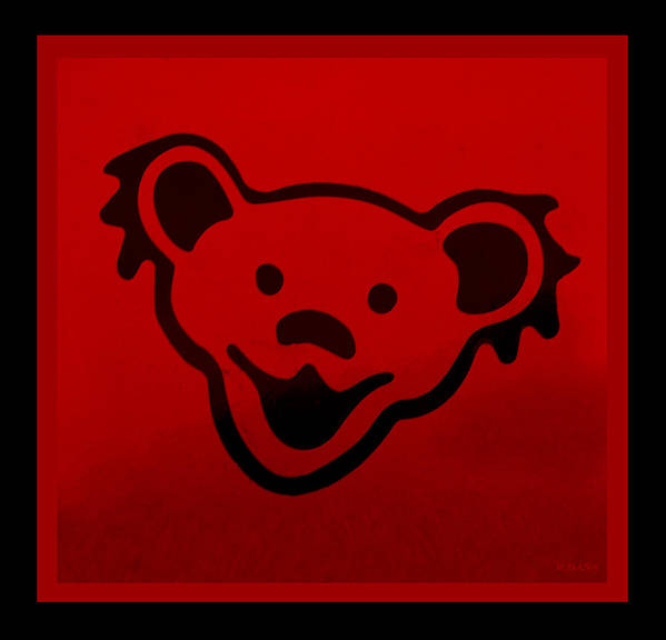 Greatful Dead Poster featuring the photograph Greatful Dead Dancing Bear In Red by Rob Hans