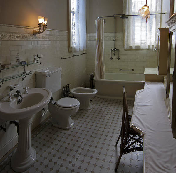 Victorian Poster featuring the photograph Haas Lilienthal House Victorian Bath - San Francisco by Daniel Hagerman