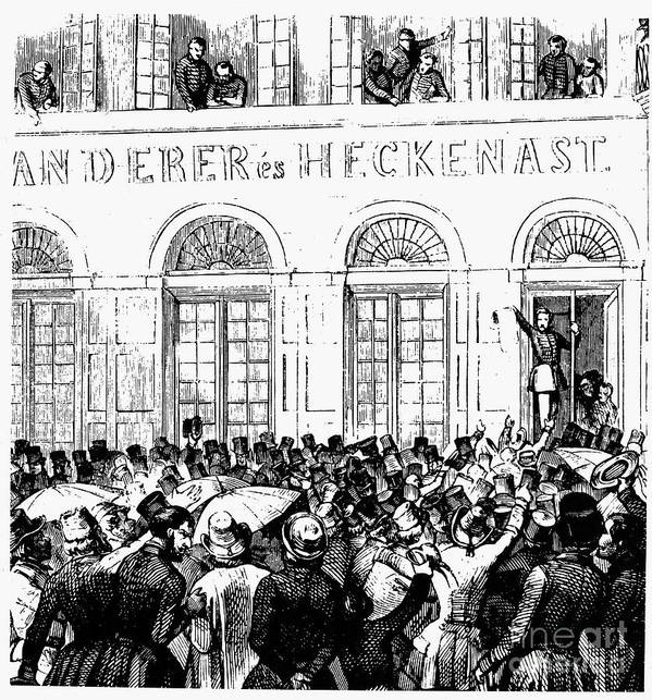 1848 Poster featuring the photograph Hungarian Home Rule, 1848 by Granger