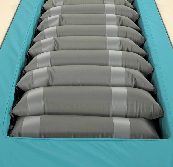 Mattress Poster featuring the photograph Inflated Hospital Air Mattress by Mark Sykes