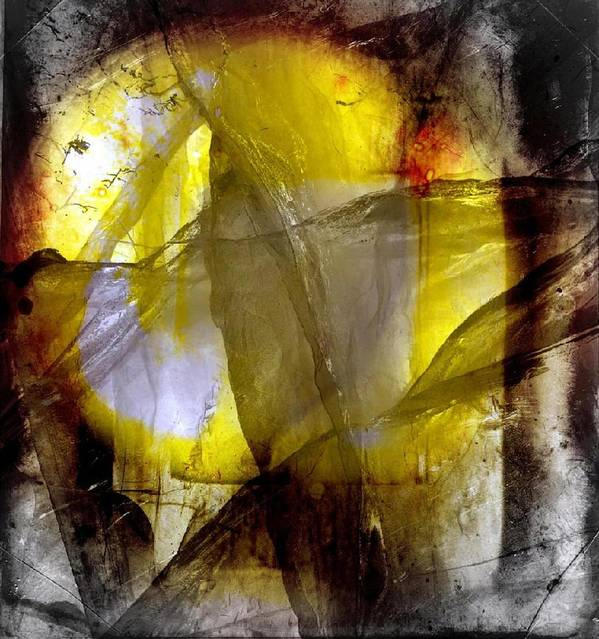 Abstract Poster featuring the digital art Kiss of the sun by Joseph Ferguson