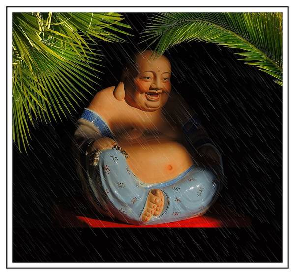 Buddhas Poster featuring the photograph Little Buddha - 8 by Larry Mulvehill