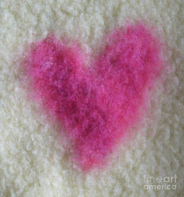 Textile Poster featuring the tapestry - textile Love Heart by Heather Hennick