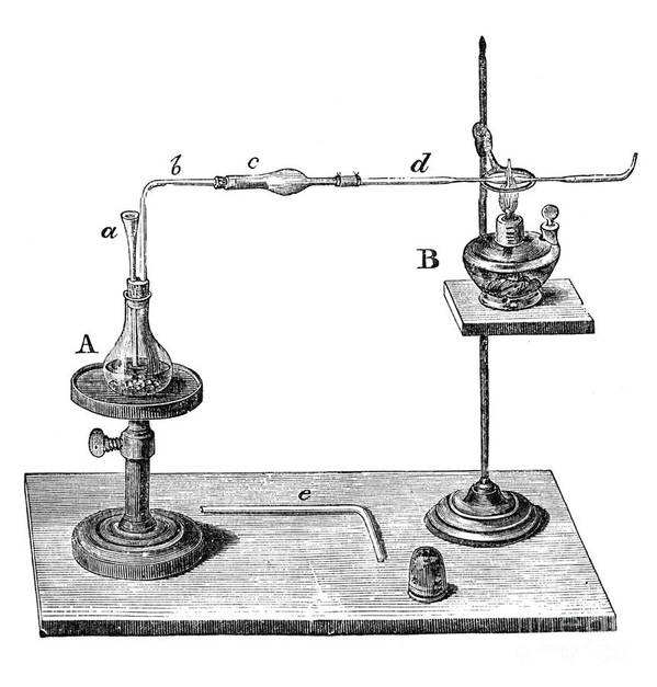 Science Poster featuring the photograph Marsh Test Apparatus, 1867 by Science Source