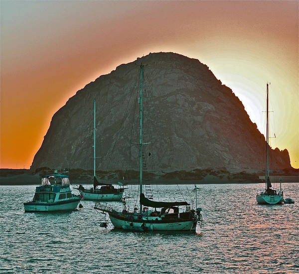 Morro Bay Poster featuring the photograph Morro Bay Rock by Bill Owen