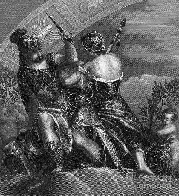 Ancient Poster featuring the photograph Mythology: Ares by Granger