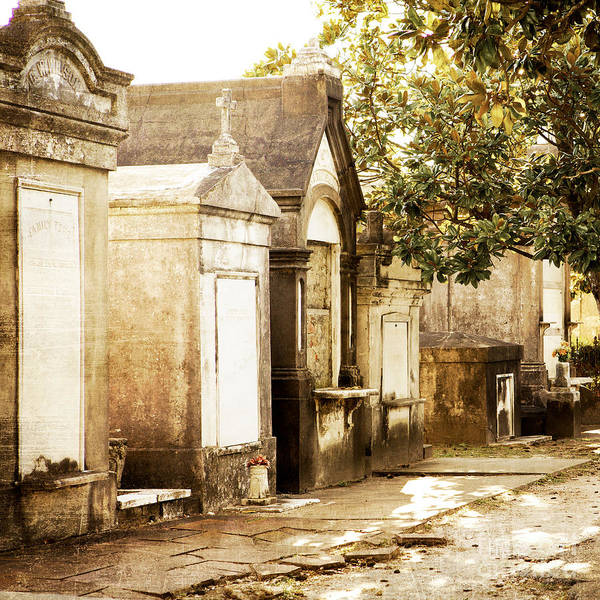 New Orleans Poster featuring the photograph New Orleans Lafayette Cemetery No.1 by Kim Fearheiley