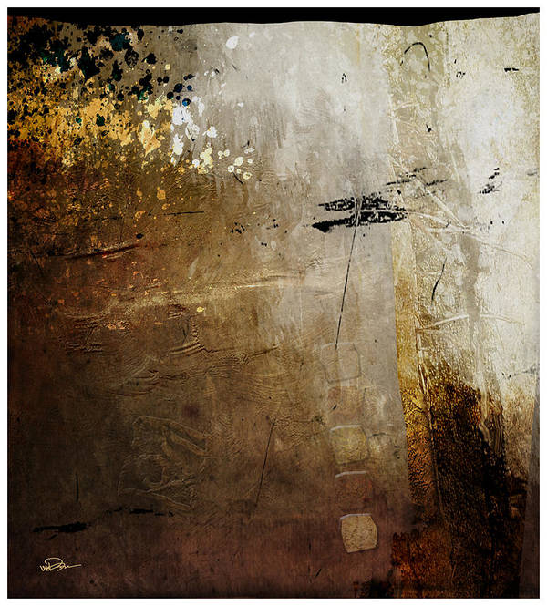 Abstract Poster featuring the digital art Old Walls Divide by James VerDoorn