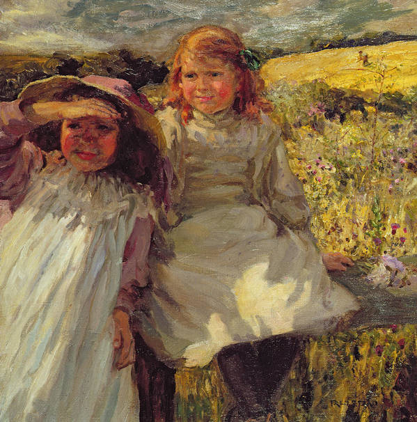 On The Stile Poster featuring the painting On The Stile by Frederick Stead